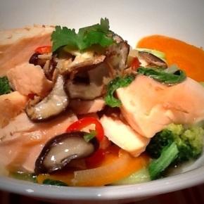 Miso Poached Salmon