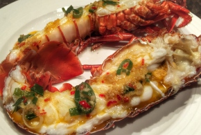 Asian style steamed crayfish