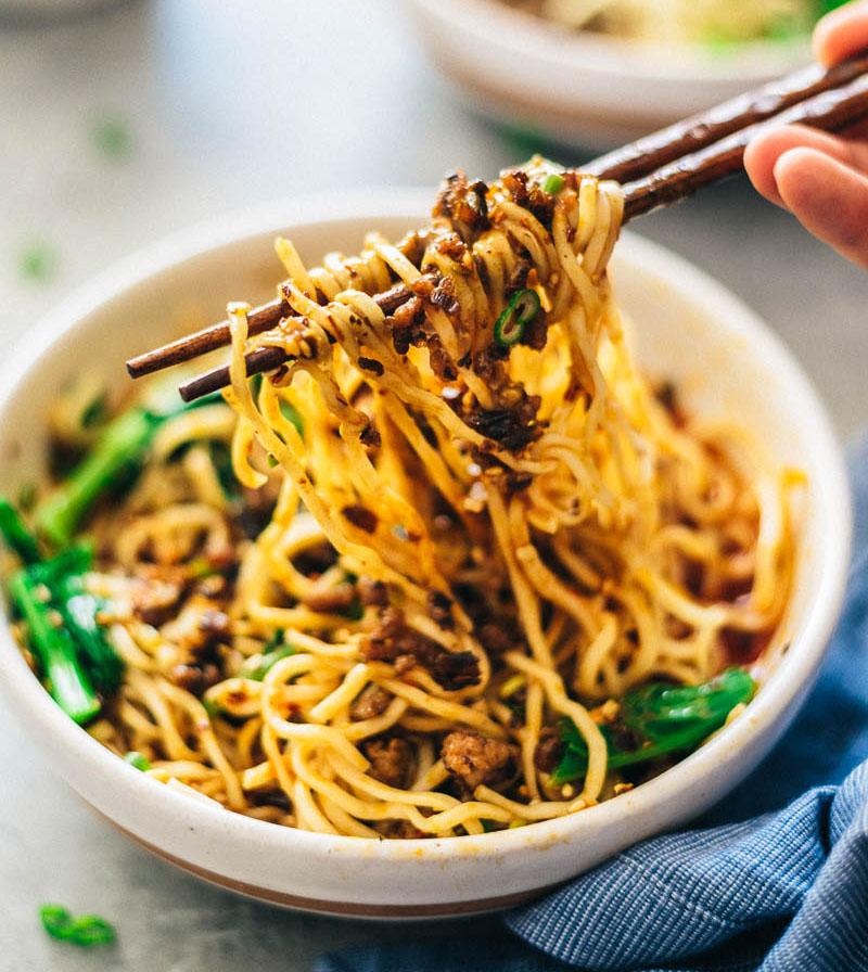 Szechuan Dan Dan Noodles Fabulousandtasty